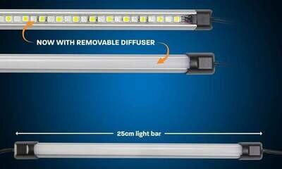 """Hard Korr 10"""" Orange / White LED Light Bar w/ Diffuser"""