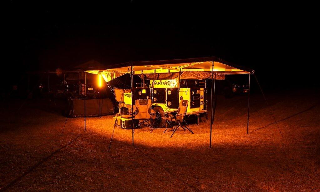 """Hard Korr 39"""" LED Camping Light Bar - Orange & White Dimmable"""