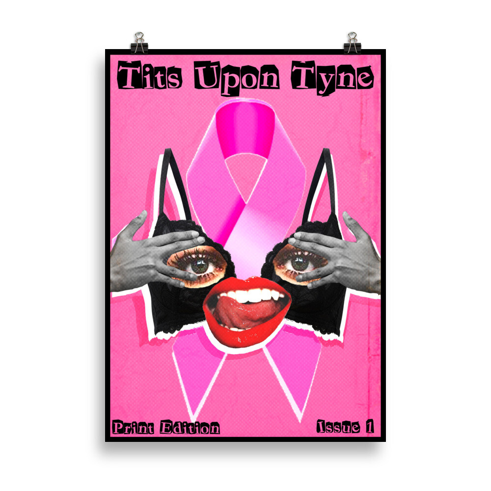TITS UPON TYNE PRINT: Cover by @Megmcart in aid of Breast Cancer
