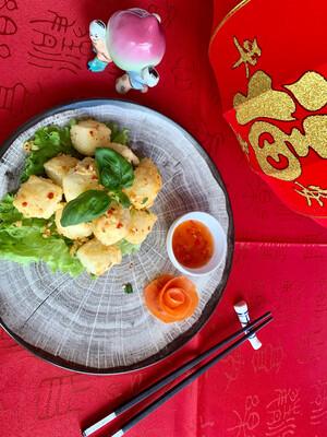 Tofu frit au poivres et sel