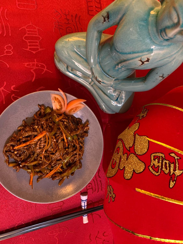 Allumettes de bœuf sauce Yu Xiang