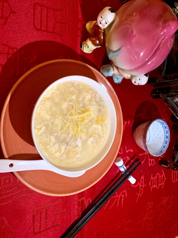 Crème de maïs au poulet