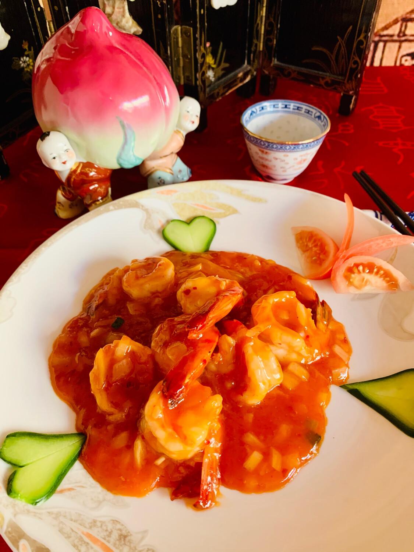 Scampis Ming Chia à la sauce piquante (spicy)