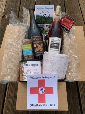 Abingdon Vineyards Quarantine Kit with           Red Hawk and Riverside Rosé Order By Monday Noon for Friday Delivery