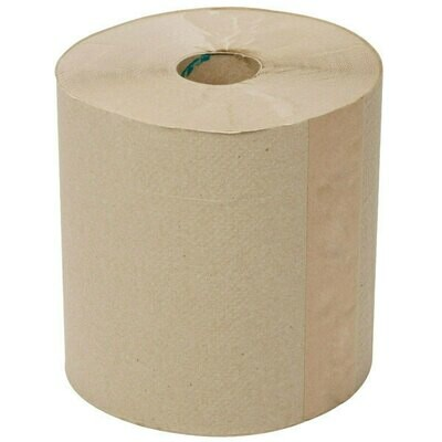 Towel Lavex Janitorial 800' Natural Brown Kraft Hardwound Roll Paper Towel - 12/Case