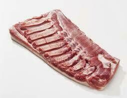 Pork Belly Skinless Square Cut 2per -23lb avg cs Hickory Nut Gap Farms priced per lb