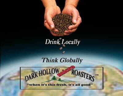 Coffee Dark Hollow Micro Roasters Guatemalan Organic Whole Bean 1lb