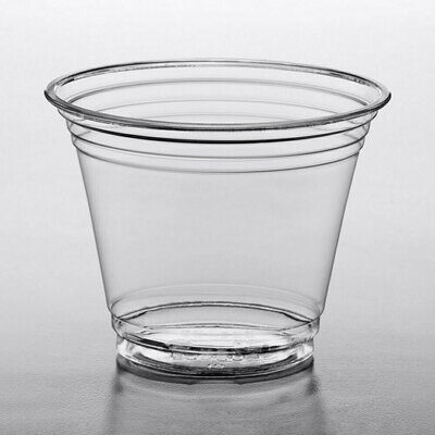 Choice 9 oz. Clear Plastic Squat Cold Cup - 1000/Case
