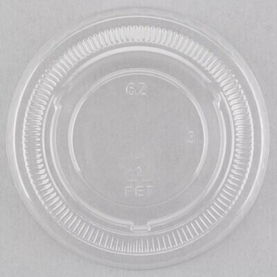 Container Clear Lid for 2oz portion cups. 250pc 2500 per case