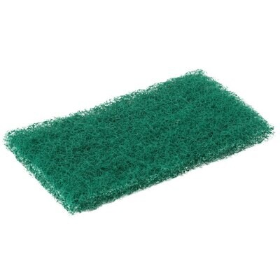"""Scouring Pad Scrubble By ACS 96-050 6"""" x 3 1/2"""" Green General Purpose Scouring Pad - 60/Case"""