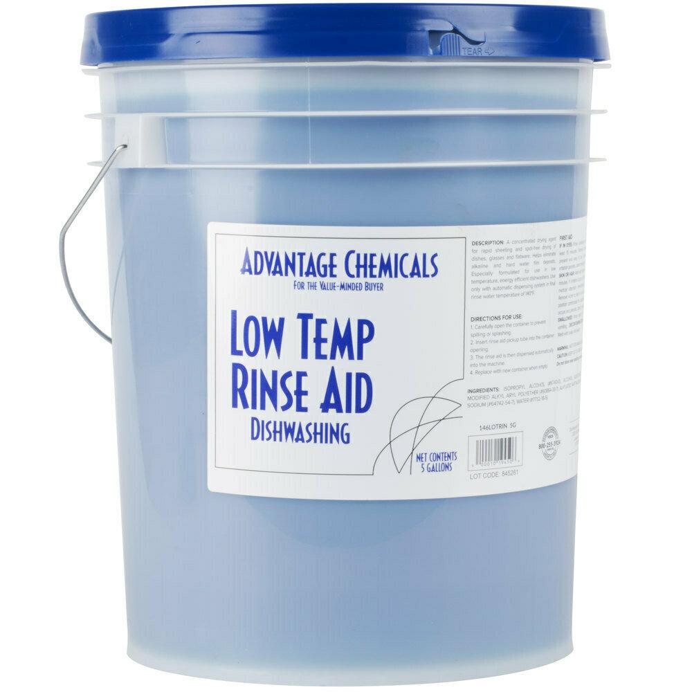 Dish Advantage Chemicals 5 gallon / 640 oz. Low Temperature Dish Washing Machine Rinse Aid