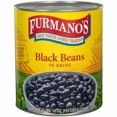 Bean Bella Vista #10 Can Fancy Black Beans in Brine - 6/Case