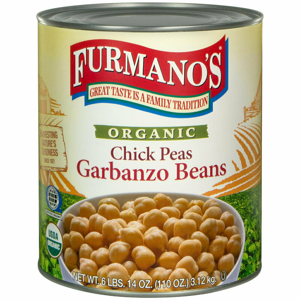 Bean Furmano's #10 Can Extra-Fancy Chick Peas (Garbanzo Beans) - 6/Case