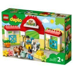 Lego Duplo écurie et soins des poneys