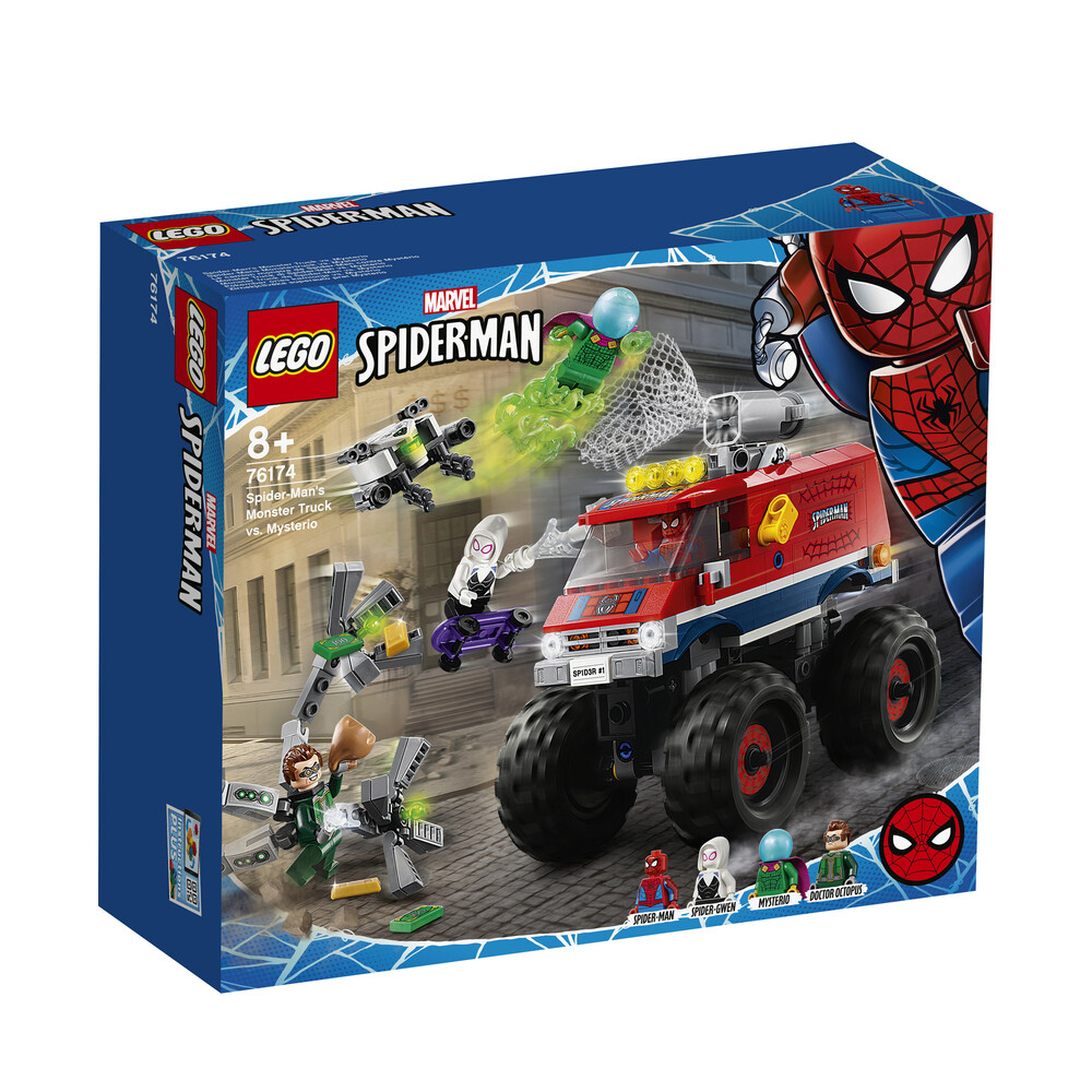 Lego Marvel le camion monstre de Spiderman contre Mysterio