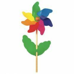 Éolienne fleur petite multicolore