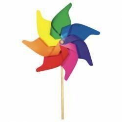 Éolienne fleur moyenne multicolore