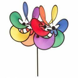 Éolienne duo de fleurs
