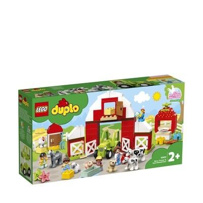 Lego Duplo la grange, le tracteur et les animaux