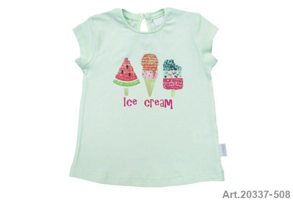 Tee shirt vert menthe  imp. Ice Cream Stummer