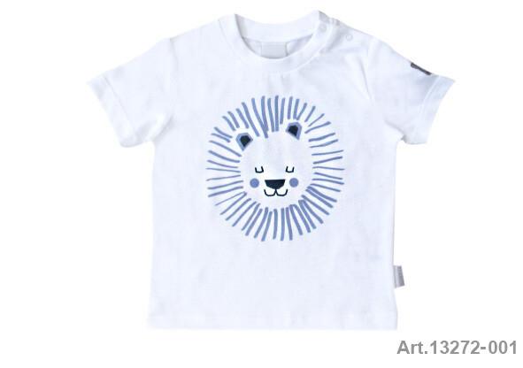 Tee shirt blanc imprimé lion Stummer