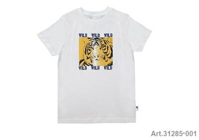 Tee shirt blanc imprimé tigre Stummer