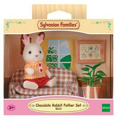 Sylvanian Families Chocolate Rabbit Father & Seettee