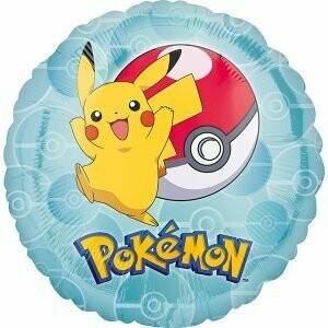Pokémon ballon rond métallique 43cm de circonférence
