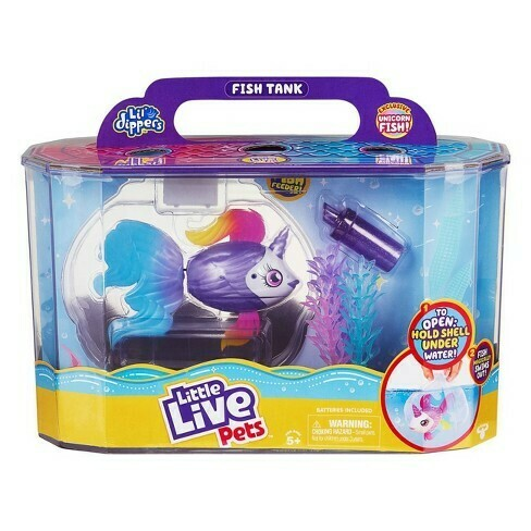 Little Live Pets Bocal à poisson avec poisson-licorne exclusif!