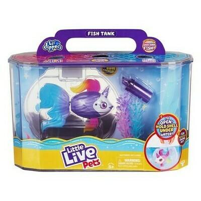 Little Live Pets Bocal à poisson avec poisson-licorne exclusif!