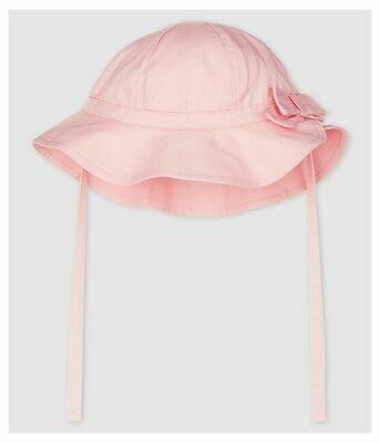 Chapeau en twill rose Petit Bateau