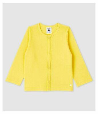 Cardigan (jaquette) jaune Petit Bateau