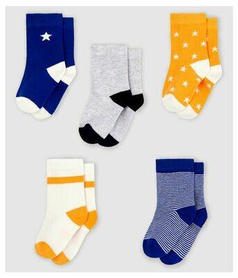 5 paires de chaussettes Petit Bateau