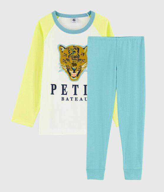 Pyjama couleur acidulée tigre Petit Bateau