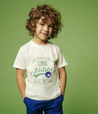 Tee shirt lait imprimé nature Petit Bateau