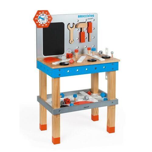 Brico'Kids établi avec outils magnétiques en bois Janod