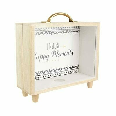 Tirelire valise Enjoy Happy Moments
