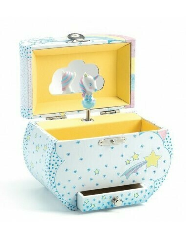 Boîte à musique et bijoux Rêve des licornes