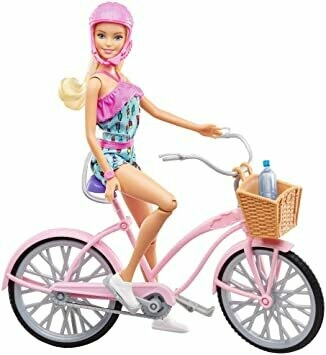 Barbie avec son vélo