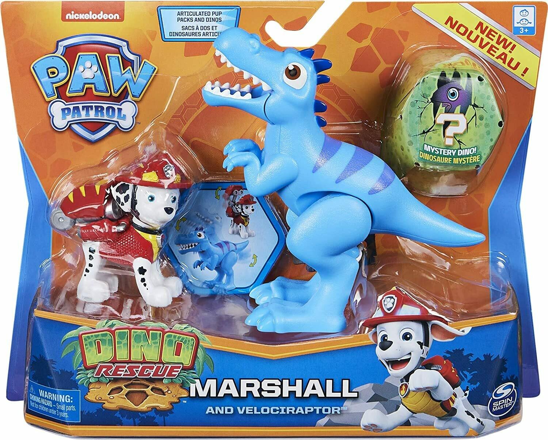 Paw Patrol Dino Rescue Marshall and Velociraptor