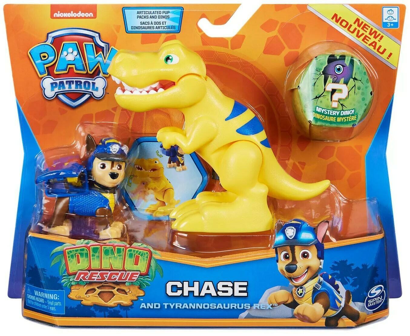 Paw Patrol Dino Rescue Chase and Tyrannosaurus Rex
