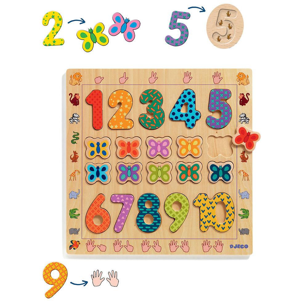 Puzzle éducatif 1-10 en bois Djeco