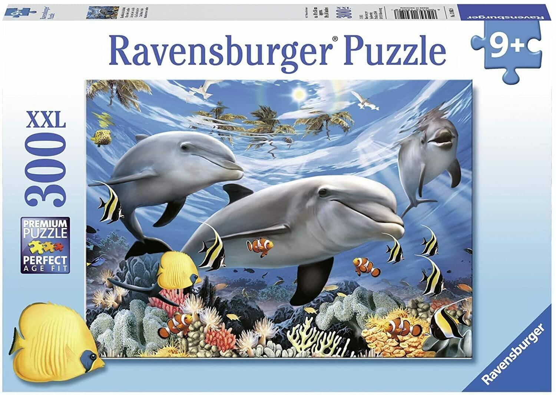 Dauphins rires des caraïbes puzzle 300 pièces