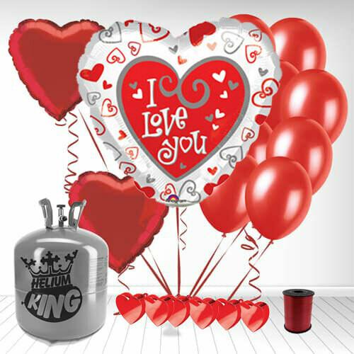 Ballon métallique I love you
