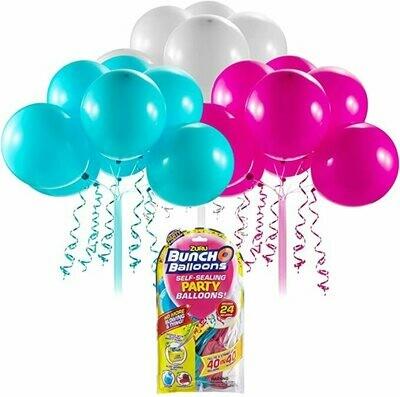 Buncho Balloons vert, rose et blanc. Recharge de 24 ballons