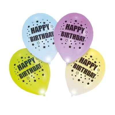 Ballons LED Happy Birthday