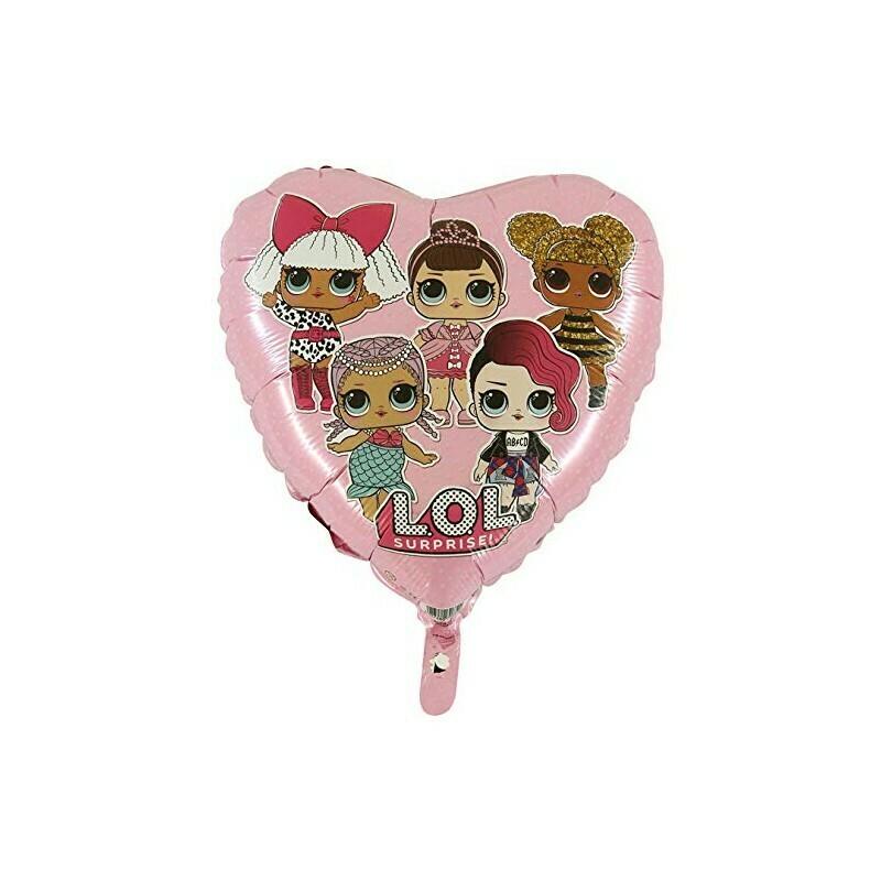Ballons métallique coeur LOL