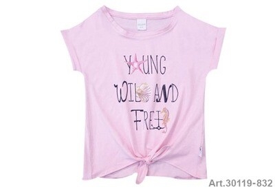 Tee shirt rose imprimé Young... Stummer