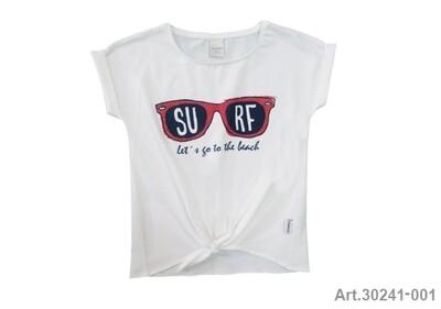 Tee shirt blanc imprimé surf Stummer