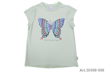 Tee shirt vert eau imprimé papillon Stummer
